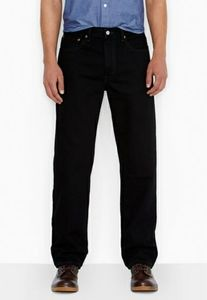 Levi's 550 Relaxed Fit Jeans Black Size 32x34